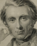 Detail from a portrait of John Ruskin by George Richmond. Frontispiece to <em>The Works of John Ruskin</em>, 1903-12 (Vol XVI: ('A Joy for Evere'). Photo © The National Gallery, London